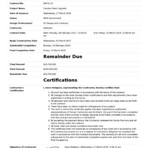 how to make a certificate of completion construction template pdf