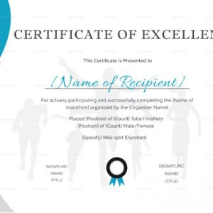 how to make a certificate of excellence template excel
