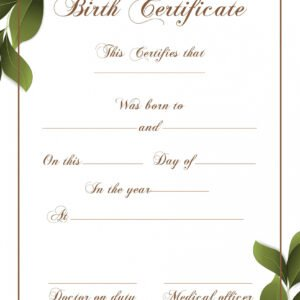 how to make a novelty birth certificate template pdf
