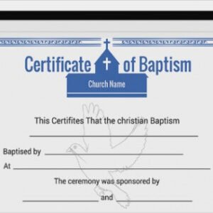 how to make a roman catholic baptism certificate template example