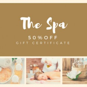 how to make a spa gift certificate template pdf