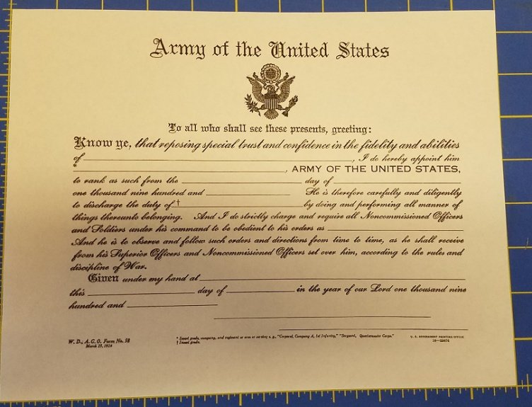 officer promotion certificate template example