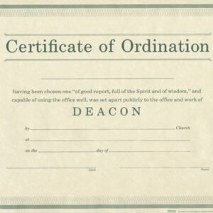pastor ordination certificate template excel
