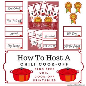 printable chili cook off award certificate template word