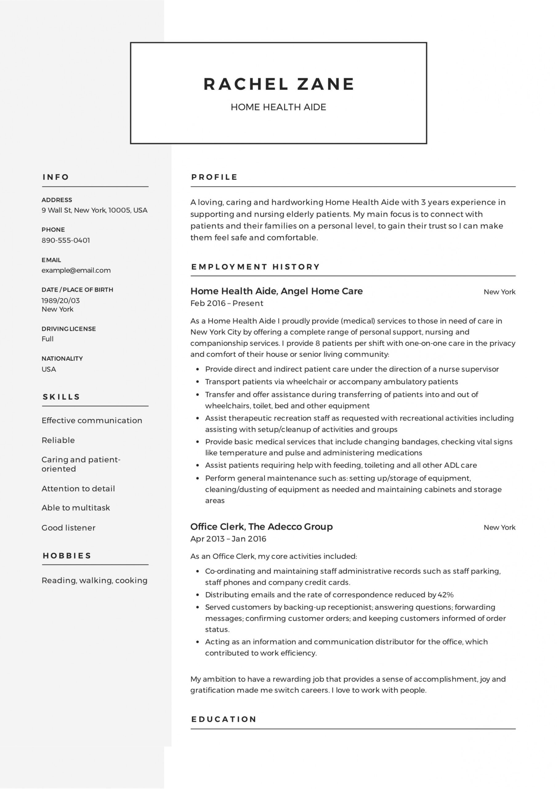 printable home health aide certificate template example