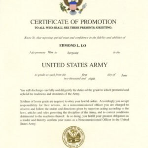 printable officer promotion certificate template doc