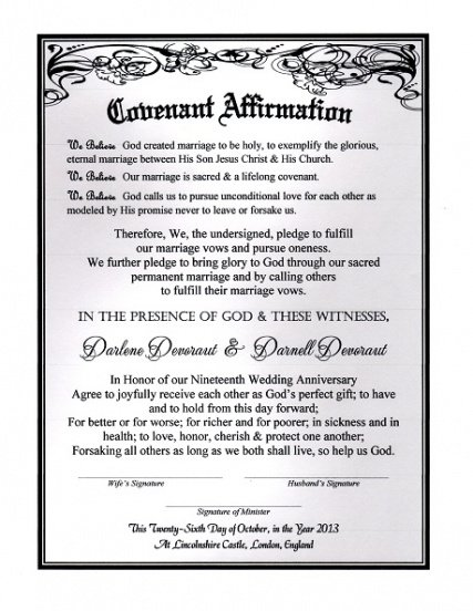 renewal of marriage vows certificate template doc