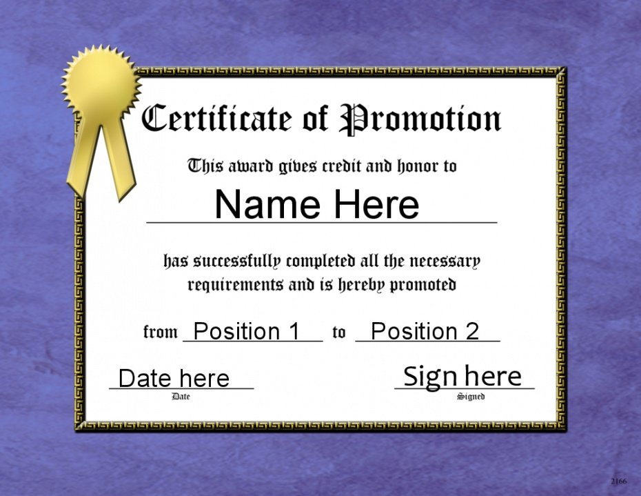 school promotion certificate template word