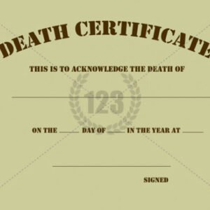 what is a baby death certificate template