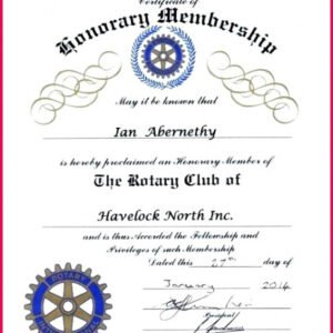 what is a certificate of honorary membership template ppt