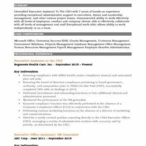 Administrative Assistant Handbook Template  Example