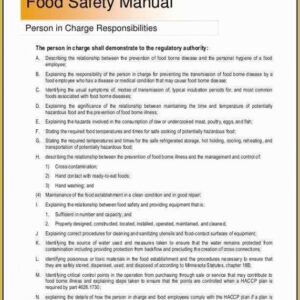 Best Health And Safety Handbook Template Word Example