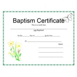 editable baby christening certificate template ppt