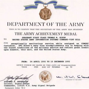 free military certificate of appreciation template example