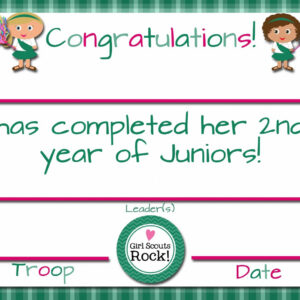 girl scout certificate of appreciation template