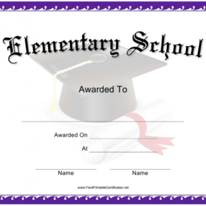 how to get a elementary school certificate template excel