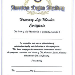 how to get a honorary member certificate template excel