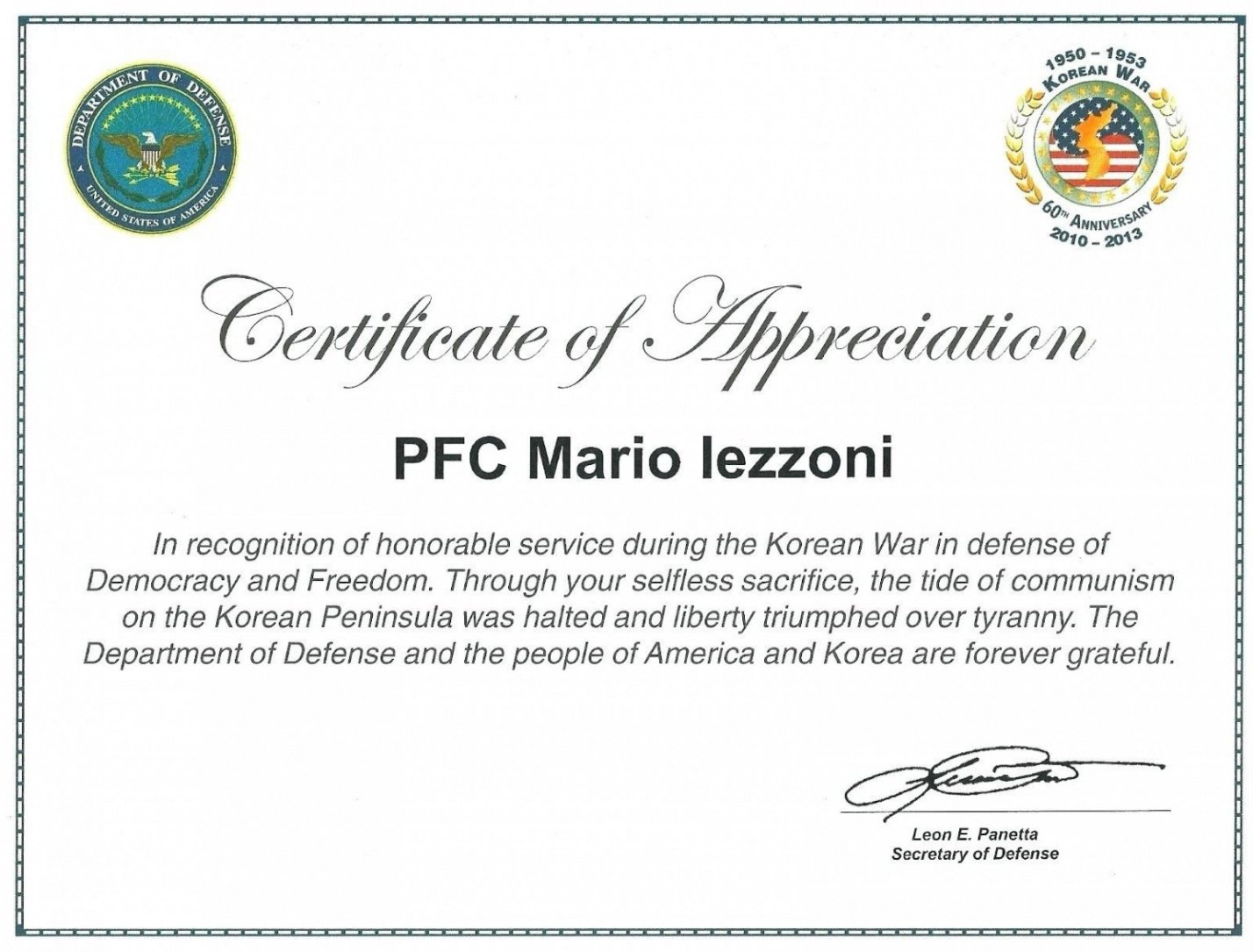 how to get a military certificate of appreciation template ppt