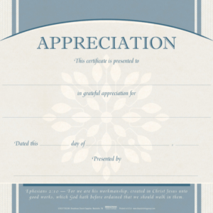 how to get a religious certificate of appreciation template pdf