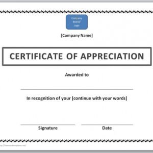 how to make a formal certificate of appreciation template pdf