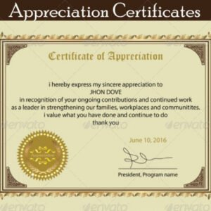 how to make a staff appreciation certificate template sample