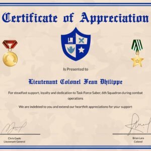 veterans appreciation certificate template ppt