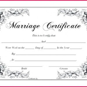 what is a islamic marriage certificate template