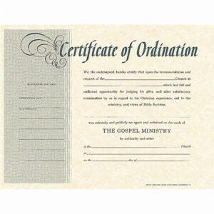 what is a minister license certificate template pdf