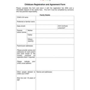 Professional Employee Handbook Template For Child Care Center